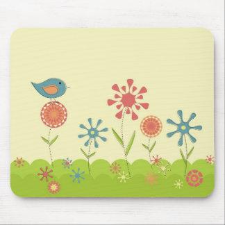 Retro spring garden mouse pad