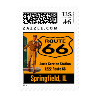 Retro Springfield IL Travel Gas Route 66 Vintage Stamps