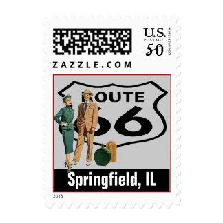 Retro Springfield Illinois IL Fun Route 66 Vintage Postage