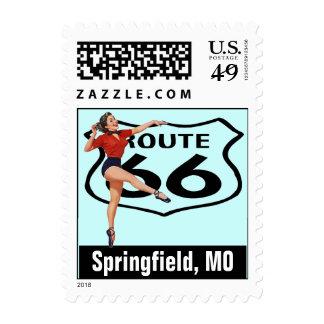 Retro Springfield Missouri Kicks Route 66 Vintage Postage