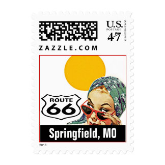 Retro Springfield Missouri Travel Route 66 Vintage Postage