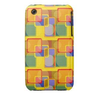 Retro Square Circle Iphone Case Case-Mate iPhone 3 Case