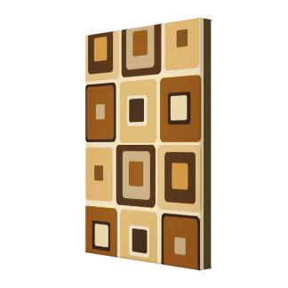 Retro Square on Canvas Gallery Wrap Canvas