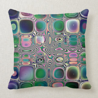 Retro Square Pattern Throw Pillow