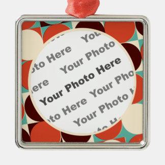 Retro Square Photo Ornament