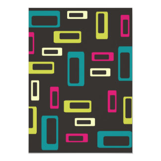 Retro square style invitation