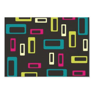 Retro square style R.S.V.P. Card
