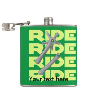 Retro Square Taper Bike Crankset Greeen Hip Flask