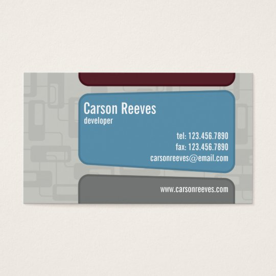 Retro Squared - Style 1 Business Card