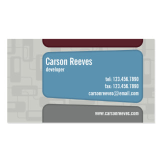 Retro Squared - Style 1 Business Card Templates