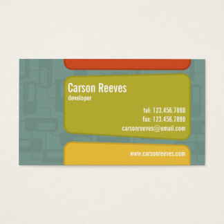 Retro Squared - Style 6 Business Card