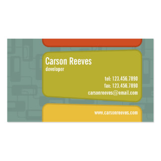 Retro Squared - Style 6 Business Cards