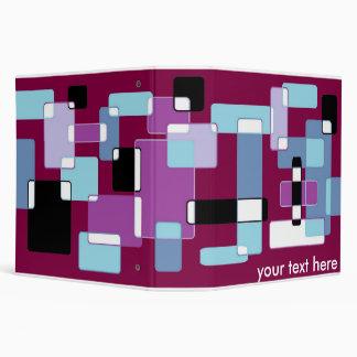 retro squares 3 binder