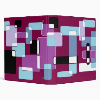 retro squares 3 ring binder