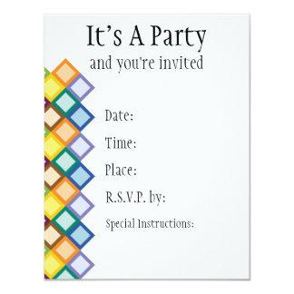 Retro Squares Bright Invitation