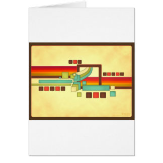 Retro Squares Card