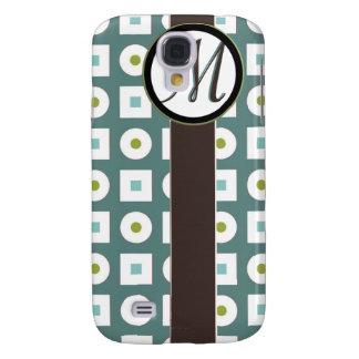 Retro Squares Dots Monogram IPhone 3G Case Galaxy S4 Cover