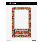 Retro Squares -Forest Sun- Decals For The NOOK