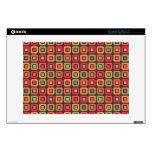 Retro Squares -Forest Sun- Skin For Laptop
