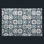 "Retro Squares -Grey Blue- Cloth Placemat<br><div class=""desc"">Grey blue colored pattern with squares. The squares are rounded off to give that ultimate retro look. Great for all ages. 