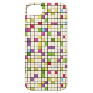 retro squares grid 50s pop vintage iphone 5 case