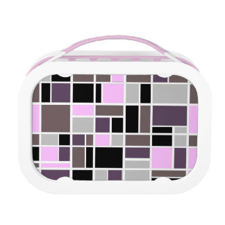 Retro Squares in Pink and Purple Lunchbox