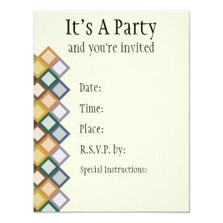 Retro Squares Invitation