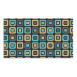Retro Squares -Masculine Mustard- Business Cards
