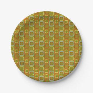 Retro Squares Paper Plate