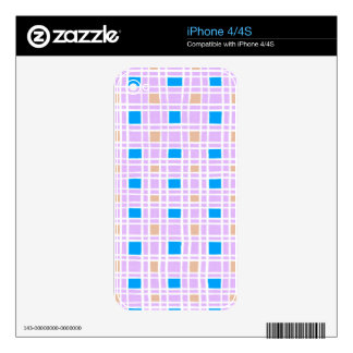 Retro squares pattern skin for the iPhone 4S