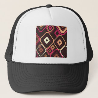 Retro Squares Photo Colorful Design Styles Trucker Hat