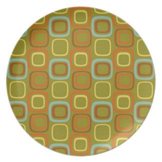 Retro Squares Plate