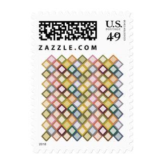 Retro Squares Postage Stamp