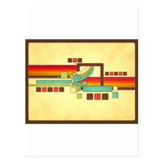 Retro Squares Postcard