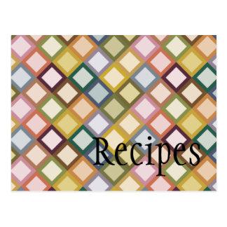 Retro Squares Recipe Card