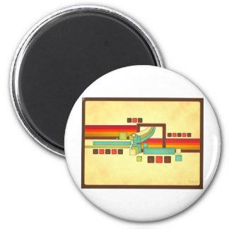 Retro Squares Refrigerator Magnets