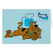 Retro Squares Scooby-Doo Lying Down