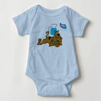 Retro Squares Scooby-Doo Lying Down Baby Bodysuit