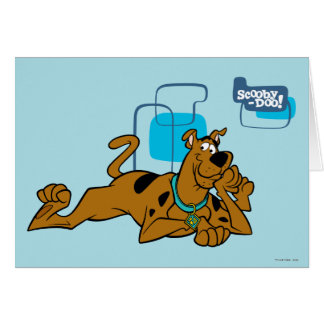 Retro Squares Scooby-Doo Lying Down Card