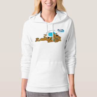 Retro Squares Scooby-Doo Lying Down Hoodie