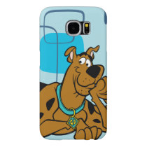 Retro Squares Scooby-Doo Lying Down Samsung Galaxy S6 Case