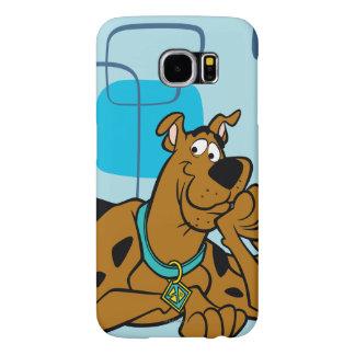 Retro Squares Scooby-Doo Lying Down Samsung Galaxy S6 Case