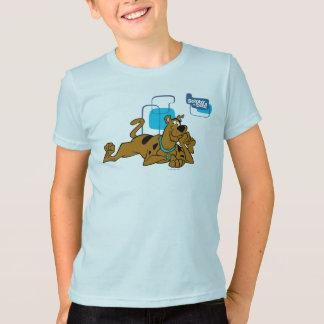 Retro Squares Scooby-Doo Lying Down T-Shirt
