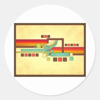 Retro Squares Sticker