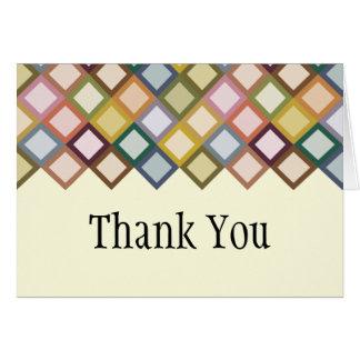 Retro Squares Thank You Card