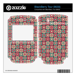 Retro Squares -Vintage Candy- Decal For The BlackBerry