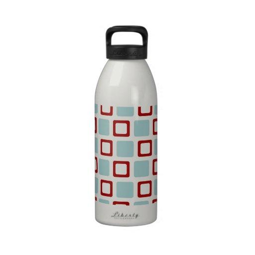 Retro Squares Water Bottle