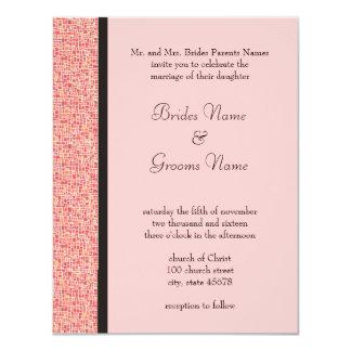 Retro Squares Wedding Invitation