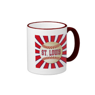 RETRO ST LOUIS BASEBALL COFFEE MUGS