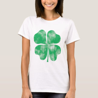 Retro St. Patrick's Day Shamrock Womens Shirt